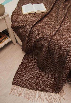 Плед Arloni 170x200. Цвет: коричневый