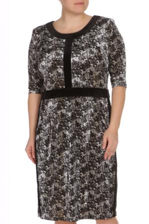 Платье Amazone. Цвет: черно-белый