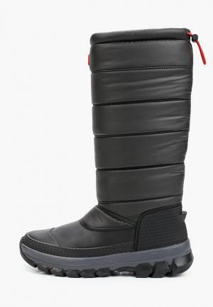 Дутики Hunter WOMENS ORIGINAL INSULATED SNOW BOOT TALL. Цвет: черный