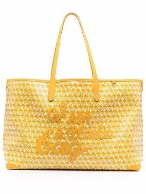 Сумка-тоут I Am A Plastic Bag Anya Hindmarch. Цвет: желтый