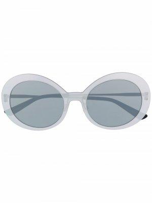Солнцезащитные очки Archive в круглой оправе Christian Roth. Цвет: серебристый