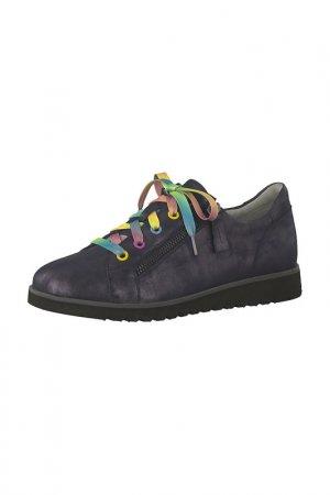 Ботинки на шнурках Jana. Цвет: синий