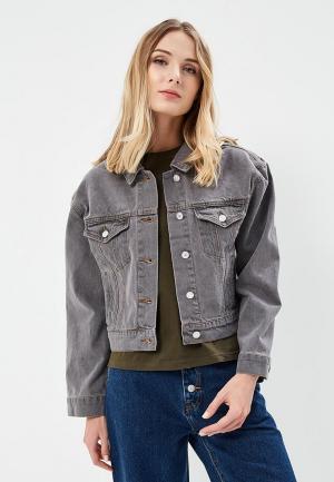 Куртка джинсовая 12storeez. Цвет: серый