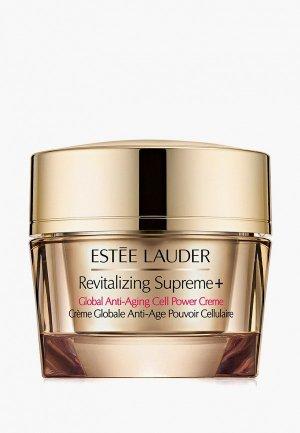 Крем для лица Estee Lauder универсальный сохранения молодости кожи,обогащенный фитоклетками Revitalizing Supreme Plus Global Anti-Aging Cell Power Crème 50 мл. Цвет: белый