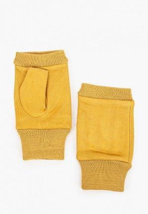 Митенки Pur. Цвет: желтый