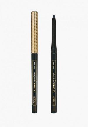 Карандаш для глаз LOreal Paris L'Oreal Le Liner Signature. Цвет: черный