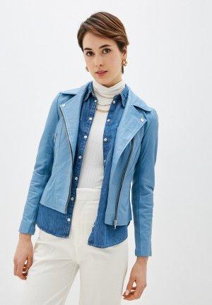 Куртка кожаная Y.A.S. Цвет: голубой