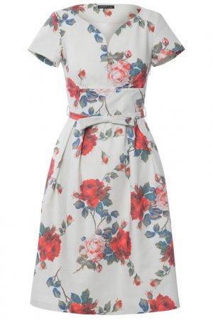 Платье Apart. Цвет: красный, мультицвет