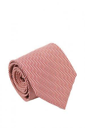 Галстук Basile. Цвет: красный, светло-серый, волна