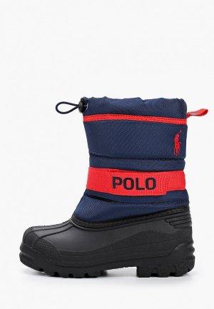 Дутики Polo Ralph Lauren. Цвет: синий