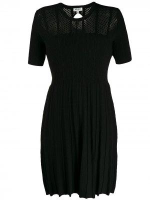 Трикотажное платье с короткими рукавами Kenzo. Цвет: черный