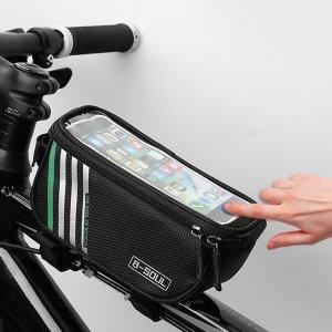 Мужская велосипедная сумка с текстовым принтом SHEIN. Цвет: чёрный