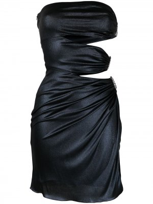 Короткое декорированное платье Azzaro. Цвет: синий