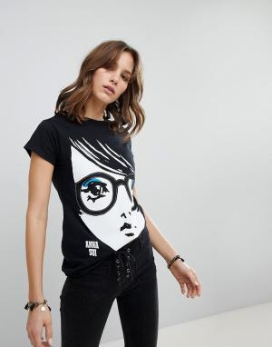 Трикотажная футболка Anna Sui. Цвет: черный
