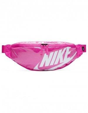 Ярко-розовая сумка-кошелек на пояс Heritage-Розовый Nike