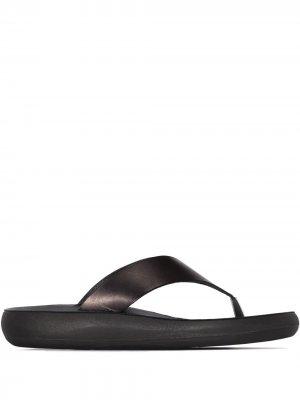Шлепанцы с Т-образным ремешком Ancient Greek Sandals. Цвет: черный