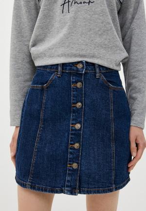Юбка джинсовая Springfield. Цвет: синий