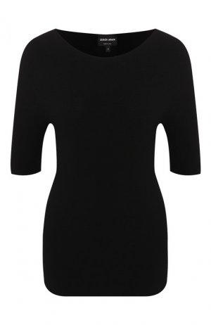 Пуловер из вискозы Giorgio Armani. Цвет: черный