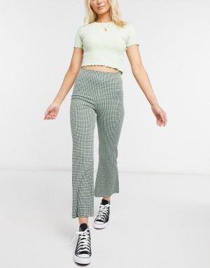 Зеленые брюки клеш -Зеленый Monki
