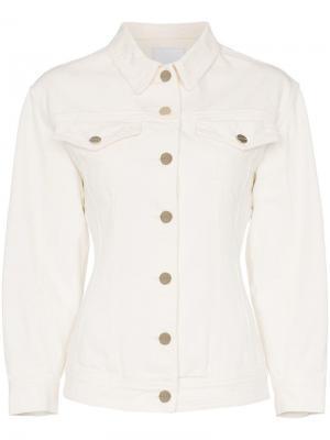 Джинсовая куртка приталенного кроя GOLDSIGN. Цвет: нейтральные цвета