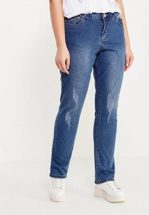 Джинсы LOST INK PLUS STRAIGHT LEG IN COCOA WITH DISTRESSING. Цвет: синий