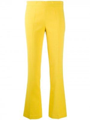 Строгие брюки прямого кроя Giambattista Valli. Цвет: желтый