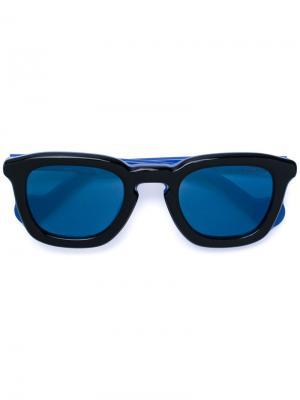 Солнцезащитные очки в квадратной оправе Moncler Eyewear. Цвет: чёрный