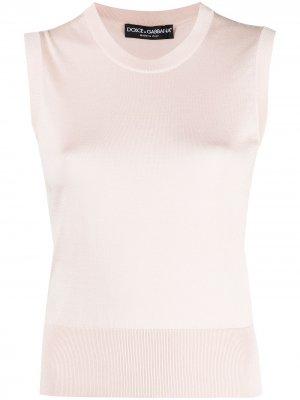 Fine-knit silk vest Dolce & Gabbana. Цвет: розовый