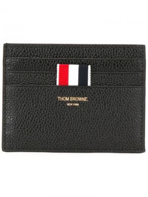 Кошелек с логотипом Thom Browne. Цвет: черный