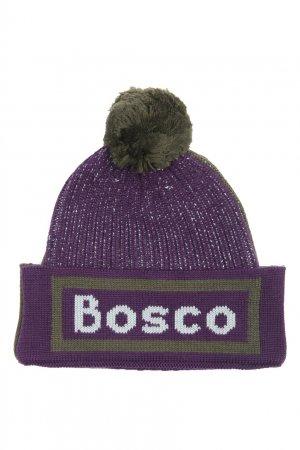 Зеленая шапка из шерсти с узором Bosco. Цвет: зеленый