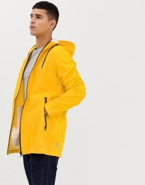 Куртка-дождевик Fat Moose. Цвет: желтый
