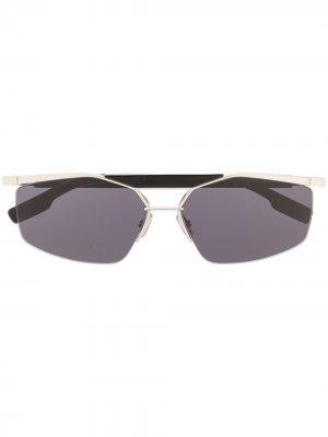 Солнцезащитные очки Psychodelic в прямоугольной оправе Dior Eyewear. Цвет: черный