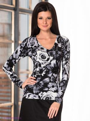 Пуловер Leo Guy. Цвет: черный, серый