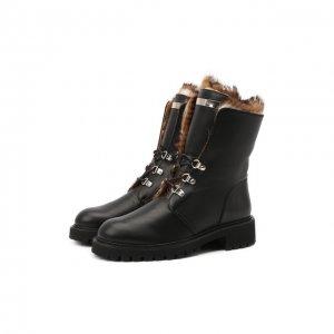 Кожаные ботинки Giuseppe Zanotti Design. Цвет: чёрный