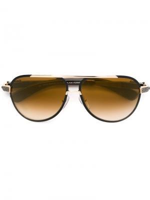 Солнцезащитные очки Chrome Hearts. Цвет: коричневый