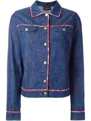 Джинсовая куртка Fendi Vintage. Цвет: синий