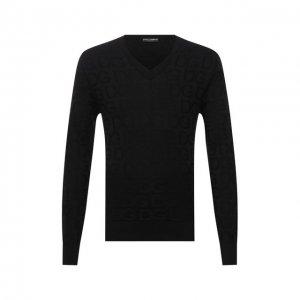 Шелковый пуловер Dolce & Gabbana. Цвет: чёрный