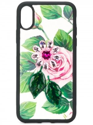 Чехол для iPhone XS из кожи Dauphine Dolce & Gabbana. Цвет: белый