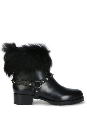 Кожаные ботинки с декором VALENTINO GARAVANI