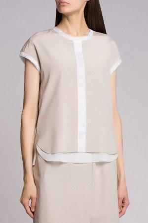 Блузка CAPPELLINI. Цвет: бежевый