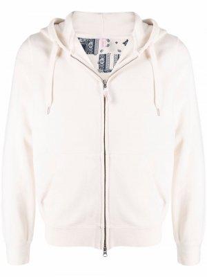Zip-up cotton hoodie Sun 68. Цвет: белый