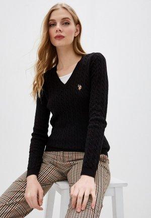 Пуловер U.S. Polo Assn.. Цвет: черный