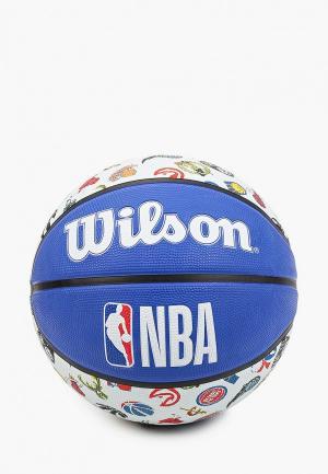Мяч баскетбольный Wilson NBA TEAM TRIBUTE ALL T. Цвет: разноцветный