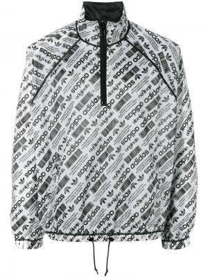 Ветровка с принтом-логотипом Adidas Originals By Alexander Wang. Цвет: белый