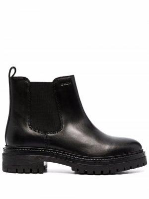 Ботинки без застежки Geox. Цвет: черный