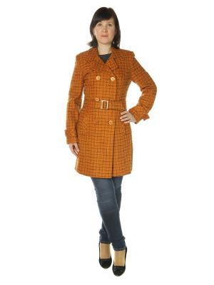Пальто AURORA. Цвет: светло-коричневый