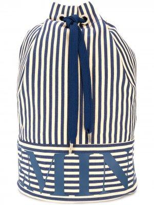 Пляжная сумка дафл в полоску Marlies Dekkers. Цвет: синий