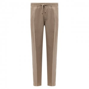 Льняные брюки Altea. Цвет: бежевый