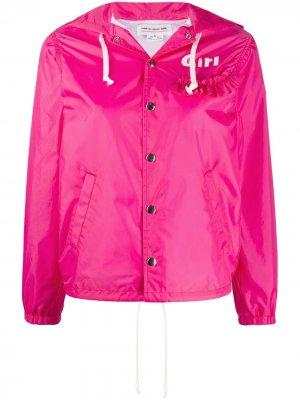 Куртка Girl на молнии с капюшоном Comme Des Garçons. Цвет: розовый