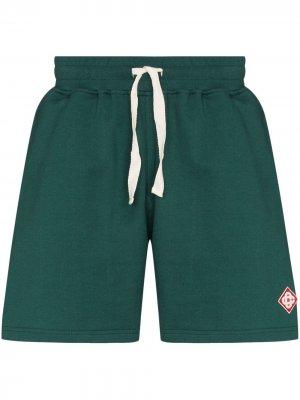 Спортивные шорты с нашивкой-логотипом Casablanca. Цвет: зеленый